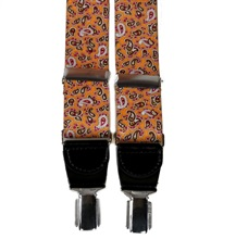 Orange Paisley Elastic Braces