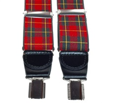 Red Scottish Tartan Elastic Braces