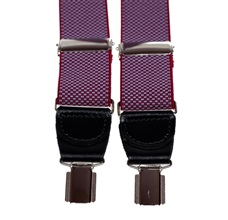Garnet with Blue Dots Elastic Braces