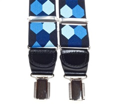 Blue Hexagons Elastic Braces