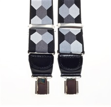 Black and Grey Hexagons Elastic Braces