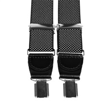 Black Elastic Braces with White Dots