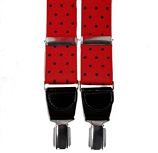 Red with Dark Blue Dots Elastic Braces