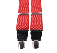 Red with White Dots Elastic Braces