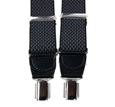 Dark Grey Pattern Elastic Braces