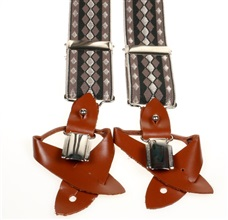 Brown Diamod Argyle Elastic Braces