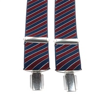 Dark Blue and Burgundy Striped Elastic Braces
