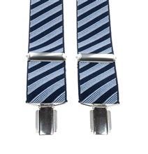 Blue Striped Elastic Braces