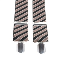 Dark Blue and Brown Stripes Elastic Braces
