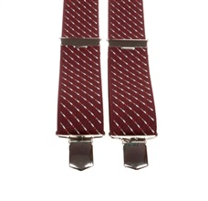 Burgundy Striped Elastic Braces