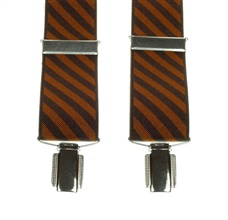 Brown and Caramel Striped Elastic Braces