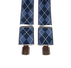 Blue Diamod Argyle Elastic Braces