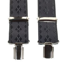Dark Grey Diamond Argyle Elastic Braces