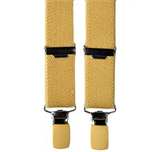 Boy's Yellow Elastic Braces