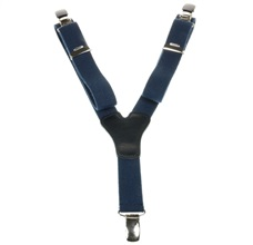 Boy's Deep Blue Elastic Braces