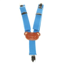 Boy's Royal Blue Teddy Bear Elastic Braces