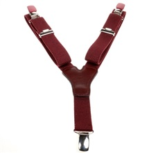 Boy's Bordeaux Elastic Braces