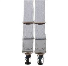 Boy's Grey Elastic Braces Leather