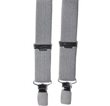 Boy's Grey Elastic Braces