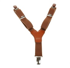 Boy's Brown Elastic Braces