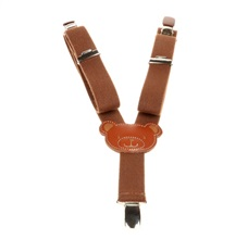 Boy's Brown Teddy Bear Elastic Braces