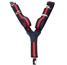 Blue and Red Stripes Elastic Boy Braces