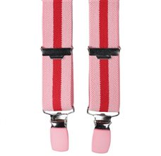 Pink and Red Stripes Elastic Boy Braces