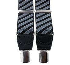 Blue and Grey Stripes XXL Braces