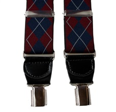 Blue Diamond Argyle XXL Elastic Braces