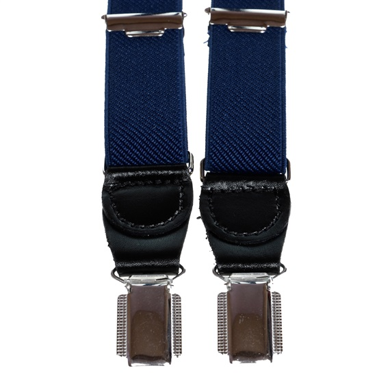 Navy Blue Skinny Elastic Braces