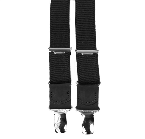 Boy's Black Elastic Braces Leather