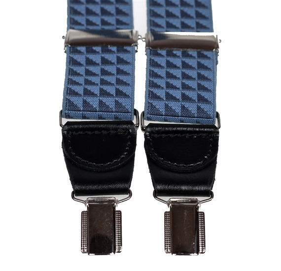 Blue Triangles Pattern Elastic Braces