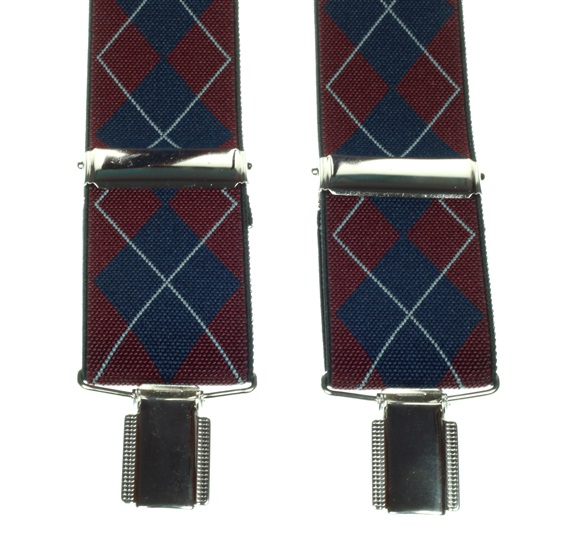 Diamond Argyle Elastic Braces