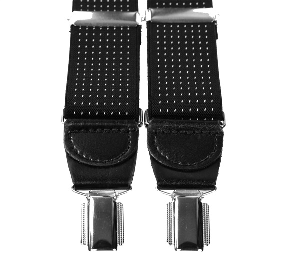 Black with White Dots XXL Braces
