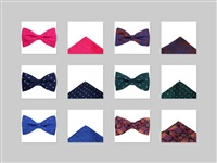 Patterned Handkerchiefs and Bow Ties Set