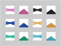 Boy Handkerchief and Bow Tie Set